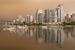 Vancouver Skyline Wildfire Smoke Haze Stock Photography