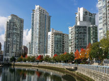 Vancouver Skyline. Yaletown - residential area of Downtown Vancouver stock photography