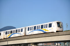 Vancouver Skytrain. Vancouver's Translink Skytrain in action Stock Images