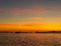 Vancouver solnedgång Arkivfoto