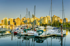 Vancouver am Sonnenuntergang Lizenzfreie Stockbilder