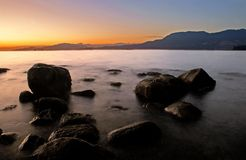 Vancouver-Sonnenuntergang, Kanada Lizenzfreies Stockbild