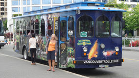 Vancouver spårvagnbuss Arkivbilder