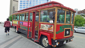 Vancouver spårvagnbuss Royaltyfri Bild