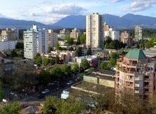 Vancouver stad och berg Arkivbild