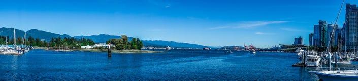 Vancouver-Stadt-Panorama 2 Stockfoto