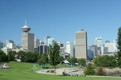 Vancouver-Stadt-Skyline Lizenzfreie Stockfotos