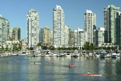 Vancouver-Stadt-Skyline Kanada stockbild