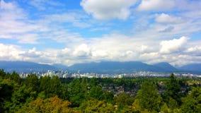 Vancouver-Stadtansicht vom Park der Königin Elizabeth Lizenzfreies Stockbild