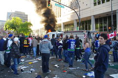 2011 Vancouver Stanley Cup riot Royalty Free Stock Photography