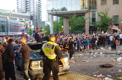 2011 Vancouver Stanley Cup riot Stock Image