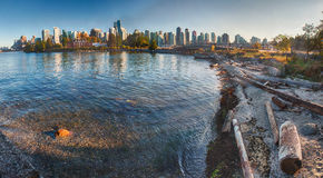 Vancouver Stanley Park SeaWall Panorama Royalty Free Stock Photography