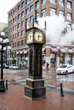 Vancouver steam clock in Gastown Stock Photography