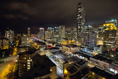 Vancouver-Straßen-Stadtbild BC Robson Lizenzfreie Stockfotos