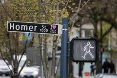 Vancouver-Straßenschild lizenzfreie stockfotografie