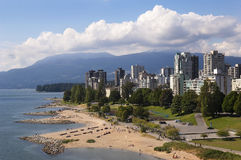 Vancouver, sulla spiaggia Immagine Stock Libera da Diritti