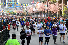 Vancouver Sun Run Mass Start - Purple Group Royalty Free Stock Photography