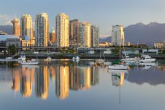 Vancouver Sunrise Reflection, False Creek Stock Photography