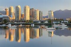 Vancouver Sunrise Reflection, False Creek Stock Photography