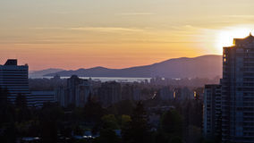Vancouver Sunset Royalty Free Stock Photography