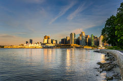 Vancouver at Sunset Stock Images