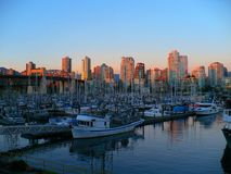Vancouver Sunset Stock Photography