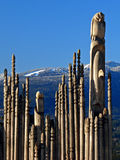 Vancouver Totems Stock Photography