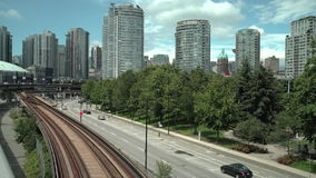 Vancouver Transit, British Columbia 4K. UHD stock video