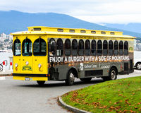 Vancouver Trolley Company Images libres de droits