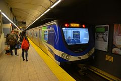 Vancouver tunnelbana, Vancouver, F. KR., Kanada Royaltyfria Bilder