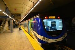 Vancouver tunnelbana, Vancouver, F. KR., Kanada Fotografering för Bildbyråer