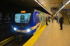Vancouver tunnelbana, Vancouver, F. KR., Kanada Arkivbild