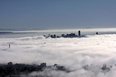 Vancouver under fog Stock Photo