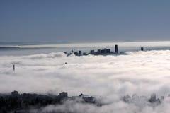 Vancouver under fog Stock Photo