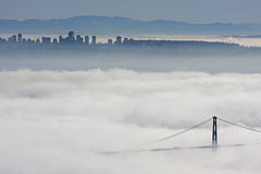 Vancouver under heavy fog Stock Photography