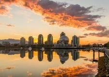 Vancouver, Valse Kreek Een vroege ochtend Brits Colombia, Canada Royalty-vrije Stock Afbeelding