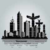 Vancouver vector cityscape. The cityscape of Vancouver . Vector illustration Royalty Free Stock Image