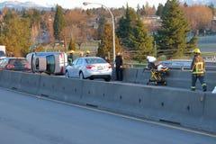 Vancouver-Verkehrsunfall am 10. März 2018 Lizenzfreie Stockfotografie