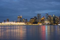 Vancouver. A view of downtown Vancouver stock images
