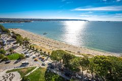 Vancouver English bay beach. Vancouver View on English bay beach royalty free stock image