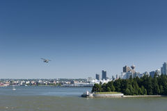 Vancouver view with floatplane Stock Photo