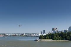Vancouver view with floatplane Stock Photo