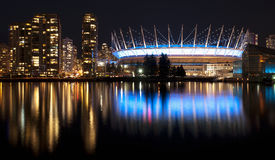 Vancouver w nocy zdjęcia royalty free