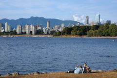 Vancouver waterfront park Royalty Free Stock Images