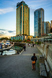 Vancouver Waterfront Pedestrain Stock Photo