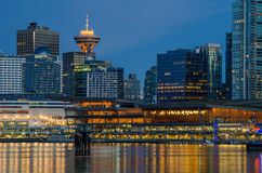 Vancouver Waterfront. Vancouver skyline and waterfront at twilight Stock Photography