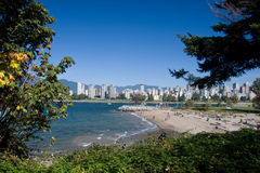 Vancouver west end and Kitsilano dog beach Stock Image
