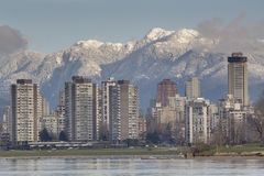 Vancouver West End Skyline Stock Image