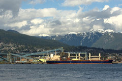 Vancouver Wharves Stock Image