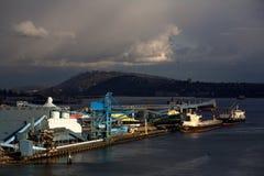 Vancouver Wharves Stock Photo